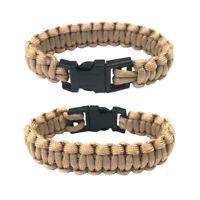 New Paracord Parachute Cord Emergency Survival Hiking Bracelet Khaki Color