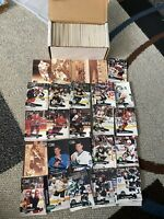 Pro Set NHL NHLPA 1991 Card Lot 300 + Hockey Bourque Howe Recchi Hackett Coxe