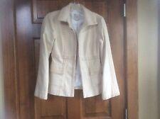 Nanette Lepore blazer jacket tan cotton size 4 Euc