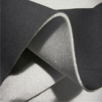 "Car Headlining Fabric 2mm Foam Backed Wide Width (72"") 185cm BLACK - OEM QUALITY"