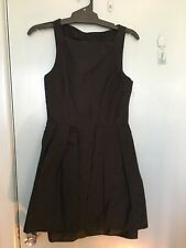 Manning Cartell black dress with black spots in size 8