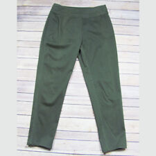 Stella Carakasi Ankle Pant Olive Green Suede Look Cotton Blend Women's Size S
