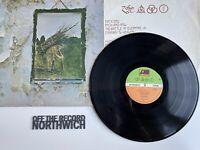 Led Zeppelin Untitled IV Vinyl LP K50008 VG Condition Reissue No Gothic Print