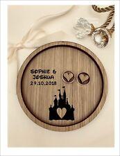 Wedding Ring Bearer Tray, Dish, Plate: Personalised Cinderella Fairytale Castle