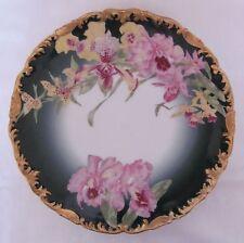 """Limoges Orchid Dinner Plate Sabots de Venus 9.5"""" T&V Tressemann & Vogt"""