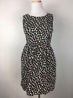 Zara Basic Women's Scoopneck Polkadotted Gathered Waist Dress Size Medium