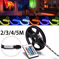 LED Strip Light 5050 SMD RGB Bar TV Back Lighting Kit + USB Remot