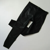 NWT Banana Republic Sloan in Black Faux Leather Front Stretch Ankle Pants 8