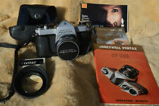 Honeywell PENTAX Spotmatic SP 500 35mm SLR Film Camera Manual~Filter~Case~Shade