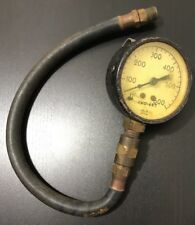 "Marshalltown Pressure Gauge 2 5/8"" Dial 0-600 PSI 3/8"" NPT Bottom Connect W Hose"