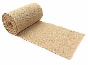 "6"" Premium Burlap Roll - 10 Yards - Finished Edges - Natural Jute Burlap Fabric"