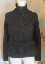 "Barbour Gold Label ""courbette"" Flower Pattern Waxed Short Jacket Uk10 Euro 36"