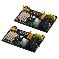 2 X MB102 Breadboard Power Supply Module 3.3V/5V For Solderless Bread Board NEW