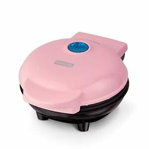 Dash DMS001PK Mini Pancakes Maker Electric Round Griddle Individual Pink NEW