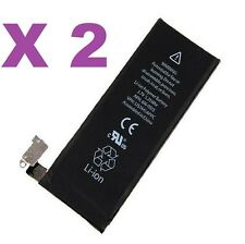 Lot of 2 New 1420mAh Internal Replacement Li-ion Battery For iPhone 4 GSM CDMA