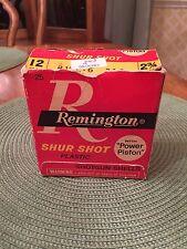 Vintage 12Ga Remington Shur Shot Box With Power Piston Box Only