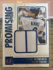 Brandon Nimmo 2017 Panini Donruss Promising Pros Materials Jersey - NY Mets