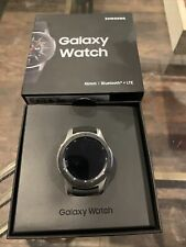 Samsung Galaxy Watch SM-R805U 46mm Silver Case Black Strap Smart Watch -...