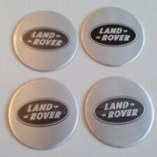 4 Land Rover Aufkleber 58mm Silber Embleme Logo  Nabendeckel 35-LR