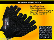 Mens Black Gripper Gloves
