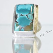 Amy Faust Sterling Silver Turquoise Ring Size 8
