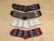 NWOT Women's Burlington Merino Wool Blend Socks 4 Pair Size Medium Multi #259R