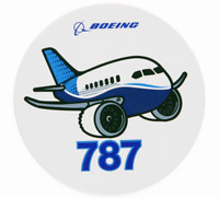 NEW Boeing 787 Pudgy Sticker, UPC# 580080110102