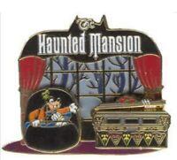 Disney Pin 22332 Haunted Mansion Goofy Donald Doom Buggy Slider Coffin Scene