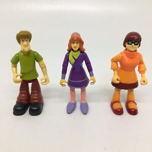 "Scooby-Doo Gang- Shaggy Velma Daphne 4.5"" Tall Thinkway Toys Action Figures-Read"