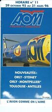 Airline Timetable - AOM French - 29/10/95 - MD-83 cover DC-10 image inside