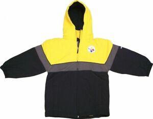 Pittsburgh Steelers Reebok NFL Kids Full-Zip Winter Jacket
