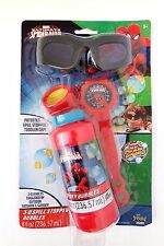 Marvel SpiderMan Spill Stopper 3D Bubbles Triggered By Outdoor/Sunshine  Glasses