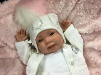 REBORN BABY GIRL FIRST REBORN BLING BOBBLE HAT SPANISH STYLE OUTFIT - 0130SU