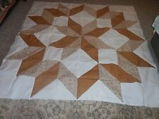 Plastic Quilt Templates - a one block quilt - Giant Easy Carpenter' Wheel