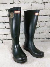 Hunter Rain Boots Green rubber waterproof  Festival Tall Womens US size 5