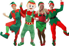 CHOOSE ELF COSTUME UNISEX ELVES FANCY DRESS SANTAS CHRISTMAS HELPER OUTFIT