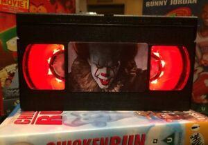IT Clown, Horror, Retro VHS Night Light, Desk Lamp, Led, Bedroom Lamp, TV, Kids