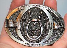 Vintage Sterling North Dakota Centennial Belt Buckle Great American Buckle Co.