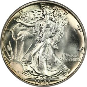 1943 Walking Liberty Half Dollar- PCGS MS65- Gem BU Blazer, Original Patina, PQ!