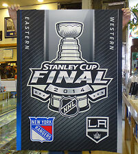 2014 L.A. KINGS vs NY Rangers STANLEY CUP Original STAPLES CENTER ARENA BANNER