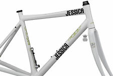 2 x Personalised Bike Name Stickers Vinyl Decals Blox Font Bicycle BMX