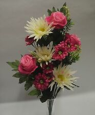 FIORI  E PIANTE ARTIFICIALI  Bouquet rose e grisantemi