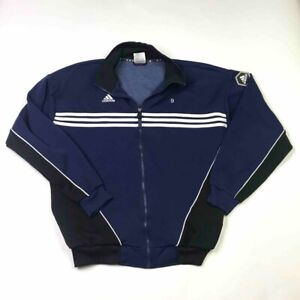 Adidas Mens Soccer Jacket Blue St Vincent Sport Medicine Mock Neck Full Zip L