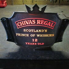 "Chivas Regal Whiskey Lighted Sign ""Prince Of Whiskies"""