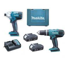 MAKITA DK18015X1 G SERIES 18v 2 Piece Comi Drill and Driver Twinpack Set