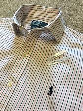 Polo Ralph Lauren Regent Custom Fit Chemise bleu marine/rayures roses shirt milieu 15 m