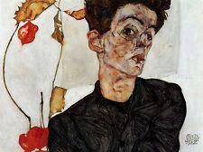 Egon Schiele Autorretrato viejo maestro Arte Pintura Arte del cartel 835omlv