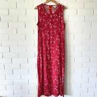 Size 16 Red Vintage Viscose Dress Red Fashion Rack Designed Australia Plus Size