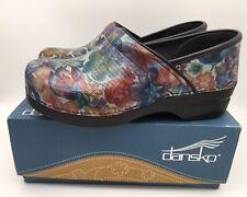 Dansko Professional Exotic Floral Patent Women's Size EUR 41/US  10.5- 11