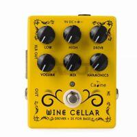 Caline 9VDC Driver+DI For Bass XLR out Guitar Effect Pedal Guitar Pedal CP-60